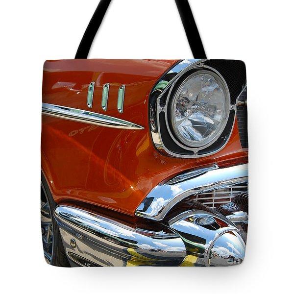 '57 Chevy Closeup Tote Bag