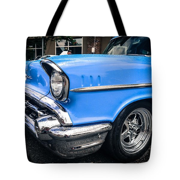 Tote Bag featuring the photograph '57 Chevy by Ronda Broatch
