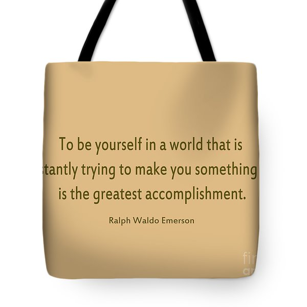 58- Ralph Waldo Emerson Tote Bag