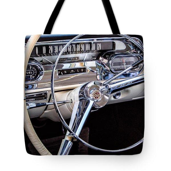 58 Cadillac Dashboard Tote Bag