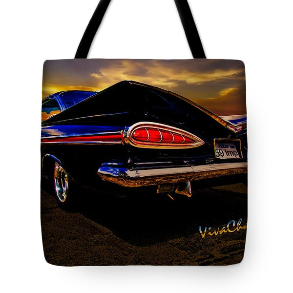 59 Chevy Impala Hardtop Tote Bag
