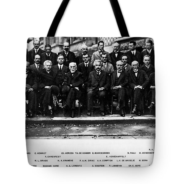 5th Solvay Conference Of 1927 Tote Bag