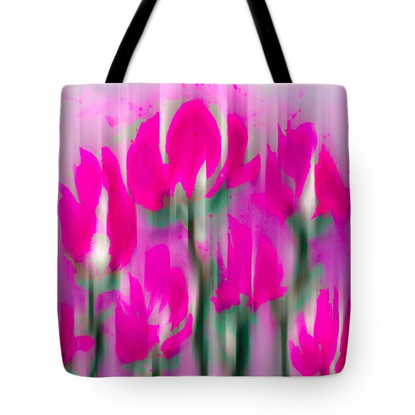 Tote Bag featuring the digital art 6 1/2 Flowers by Frank Bright
