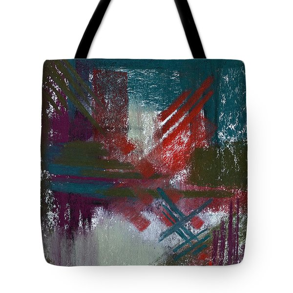 Foggy Morning Tote Bag by Tracy L Teeter
