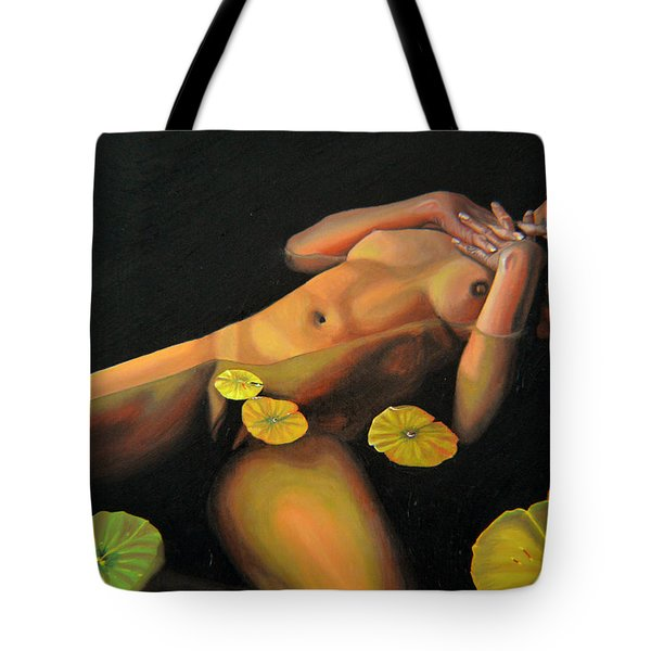 Tote Bag featuring the painting 6 30 A.m. by Thu Nguyen