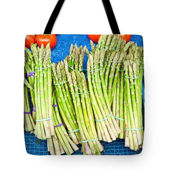 Asparagus Tote Bag by Tom Gowanlock