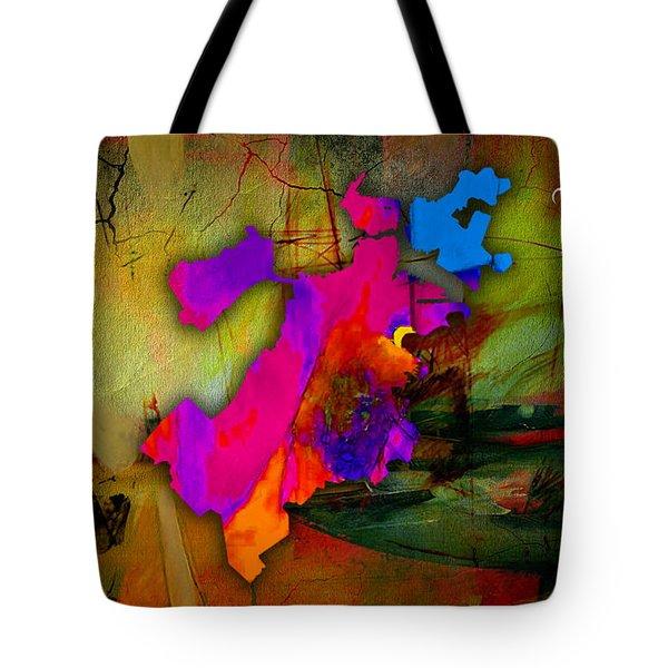 Boston Map Watercolor Tote Bag