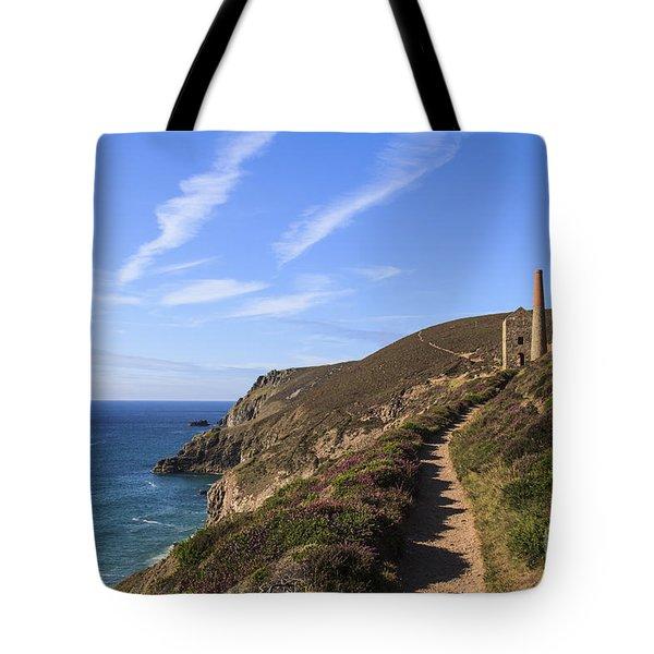 Chapel Porth Cornwall Tote Bag