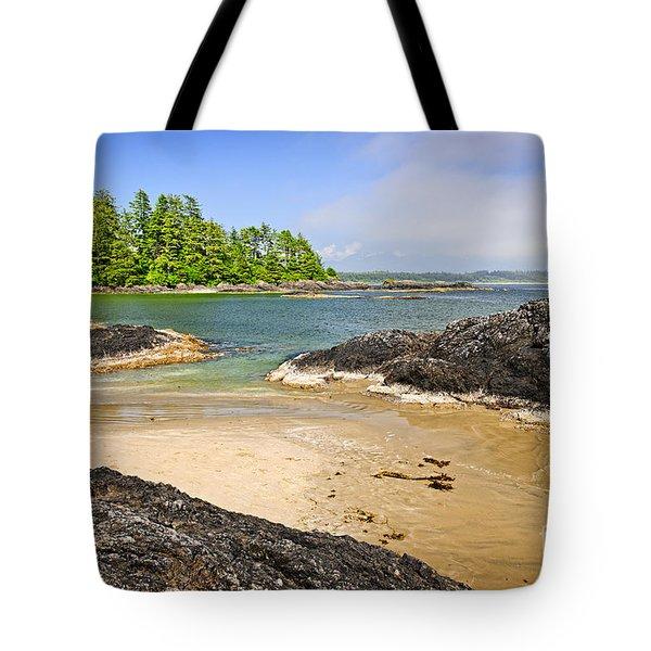 Coast Of Pacific Ocean On Vancouver Island Tote Bag by Elena Elisseeva