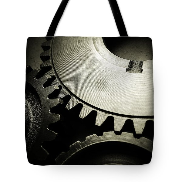 Cogs Tote Bag by Les Cunliffe