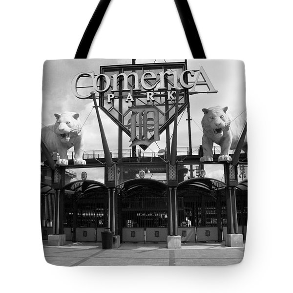 Tote Bag featuring the photograph Comerica Park - Detroit Tigers by Frank Romeo
