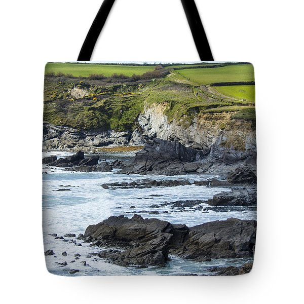 Cornish Seascape Gunwalloe Tote Bag by Brian Roscorla