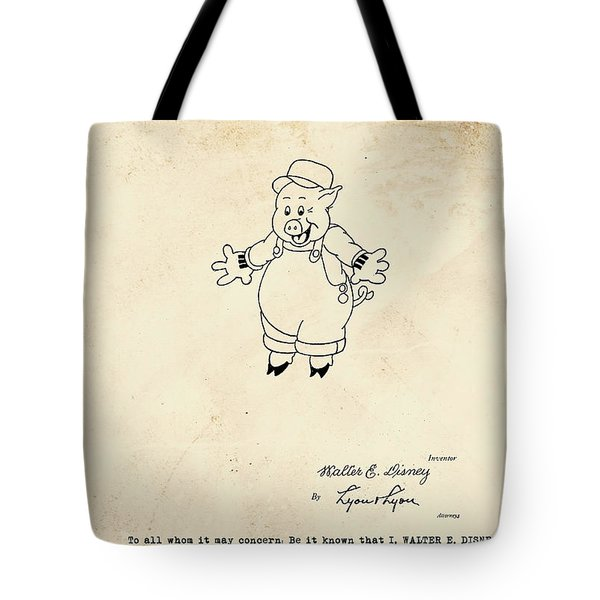 Disney Pig Patent Tote Bag