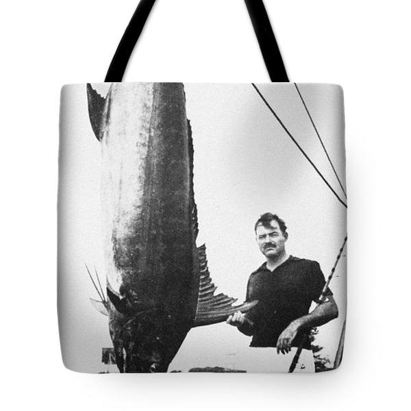 Ernest Hemingway (1899-1961) Tote Bag