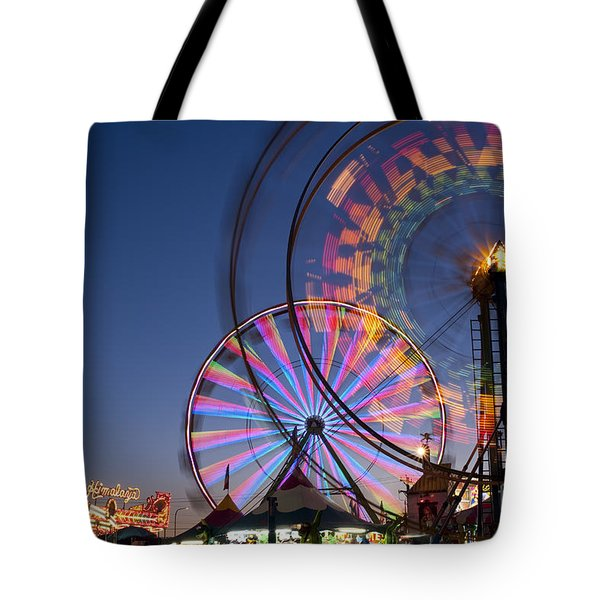 Evergreen State Fair With Ferris Wheel Tote Bag