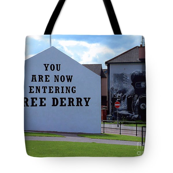 Free Derry Corner 3 Tote Bag