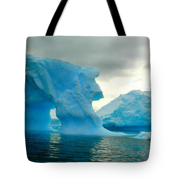 Tote Bag featuring the photograph Icebergs by Amanda Stadther