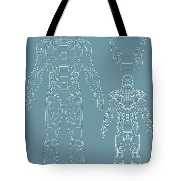 Iron Man Tote Bag by Caio Caldas