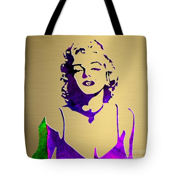 Marilyn Monroe Gold Series Tote Bag by Marvin Blaine