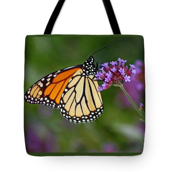 Monarch Butterfly In Garden Tote Bag
