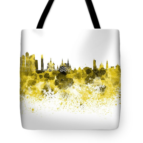 Moscow Skyline White Background Tote Bag