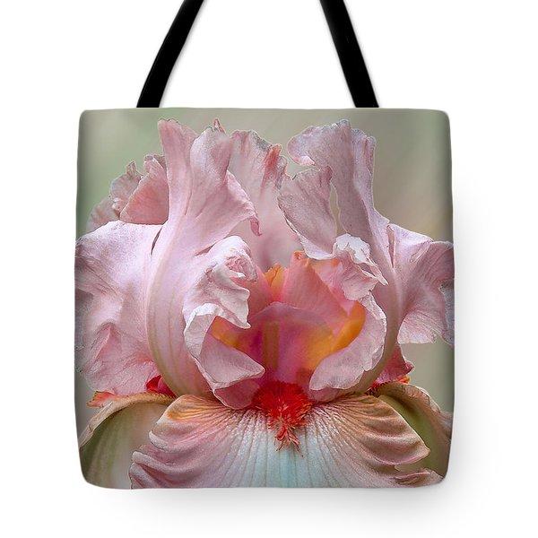 Pink Electrabrite Bearded Iris Tote Bag