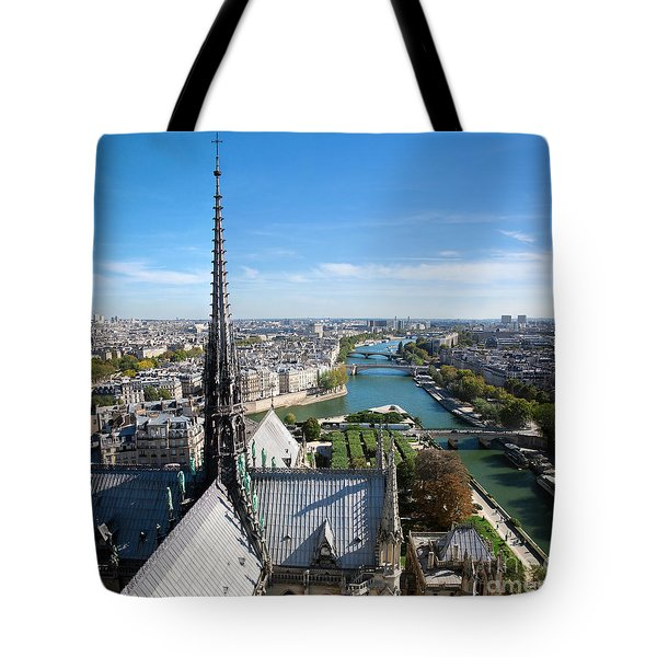 Paris Panorama France Tote Bag by Michal Bednarek
