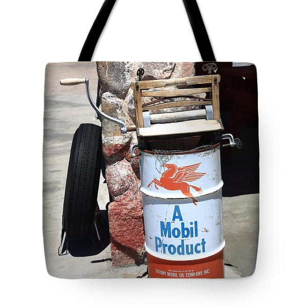 Route 66 Filling Station Tote Bag by Frank Romeo