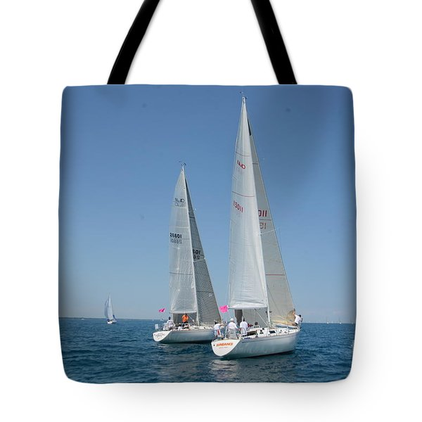 Sailboat Race Tote Bag