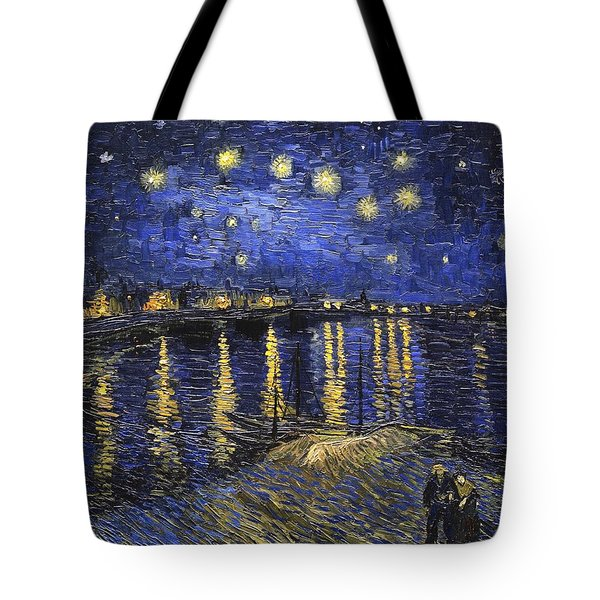 Starry Night Over The Rhone Tote Bag