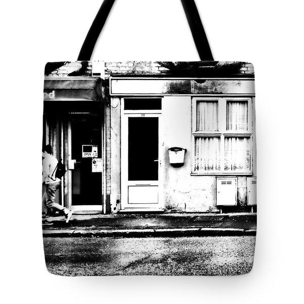 Walking Down The Street Tote Bag