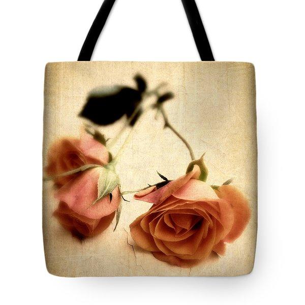 Vintage Rose Tote Bag by Jessica Jenney
