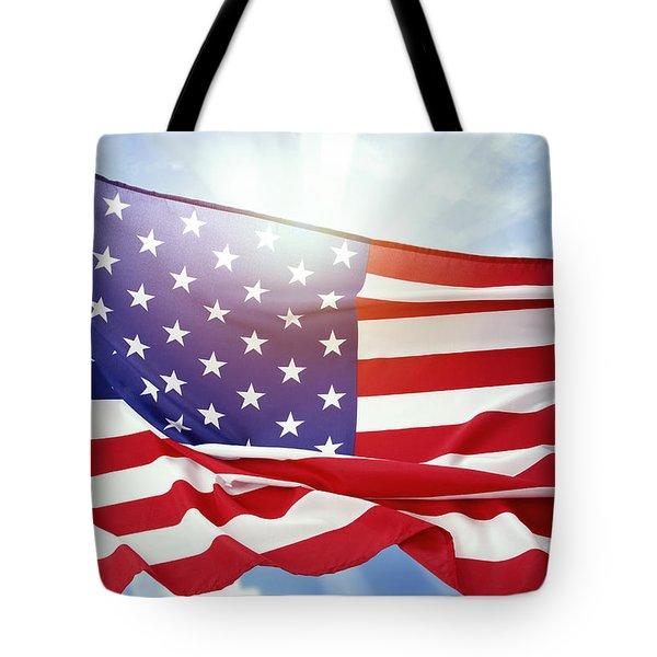 American Flag 55 Tote Bag