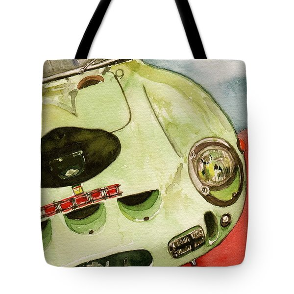 62 Ferrari 250 Gto Signed By Sir Stirling Moss Tote Bag