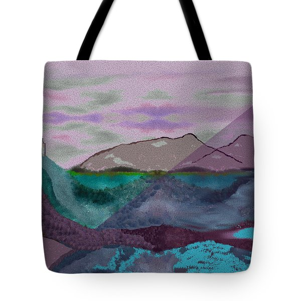 633 - A Dark Stormy Day   Tote Bag by Irmgard Schoendorf Welch