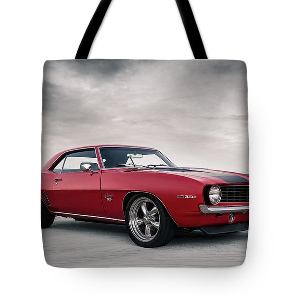 Tote Bag featuring the digital art 69 Camaro by Douglas Pittman