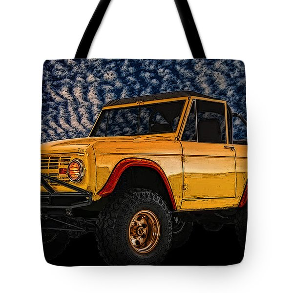 69 Ford Bronco 4x4 Restoration Tote Bag
