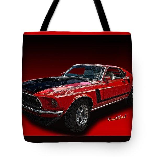 69 Mustang Mach 1 Tote Bag