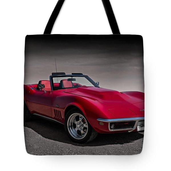 69 Red Stingray Tote Bag