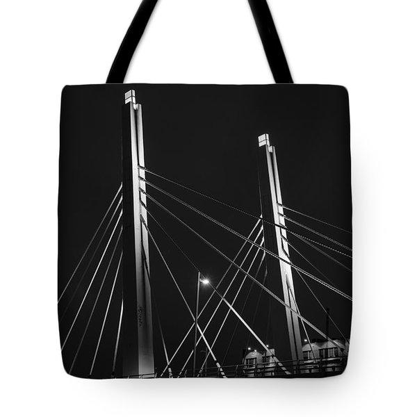 6th Street Bridge Black And White Tote Bag
