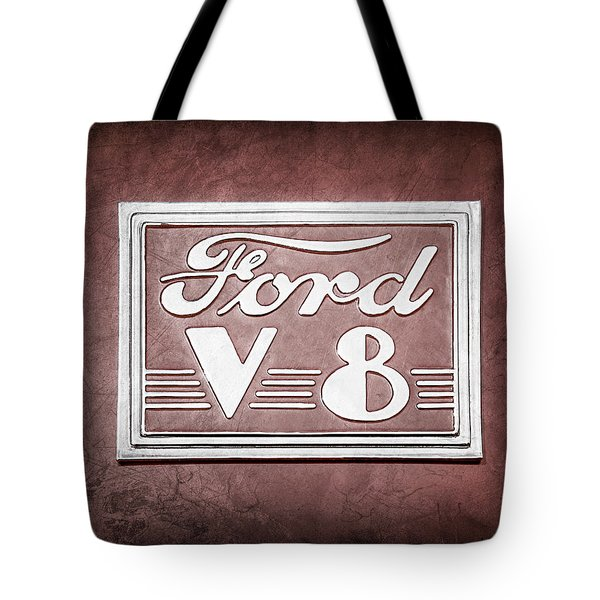 1940 Ford Deluxe Coupe Emblem Tote Bag