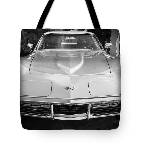 1969 Chevrolet Corvette 427 Bw Tote Bag