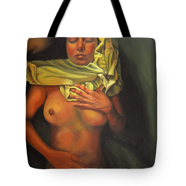 Tote Bag featuring the painting 7 30 A.m. by Thu Nguyen