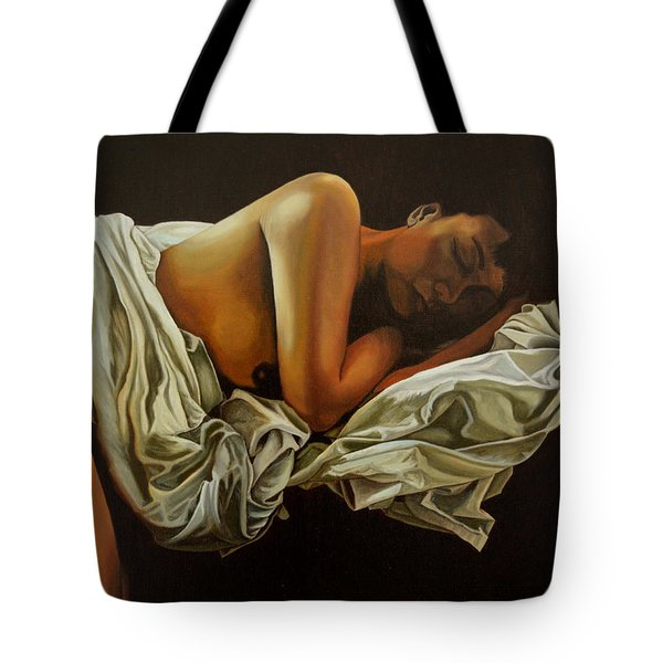 Tote Bag featuring the painting 7 Am by Thu Nguyen