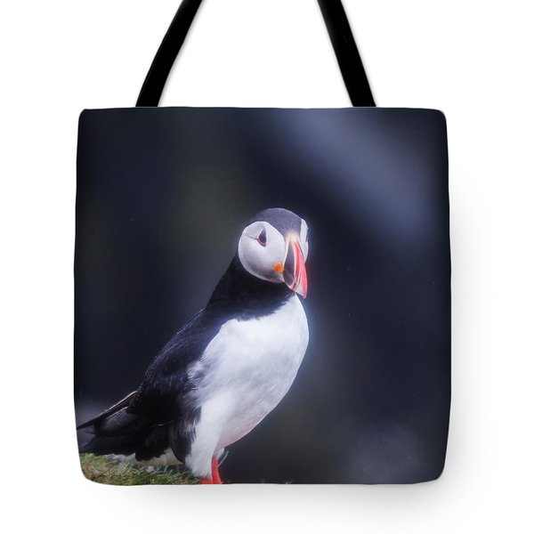 Atlantic Puffin Fratercula Arctica Tote Bag