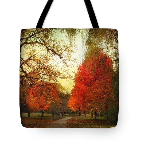 Tote Bag featuring the photograph Autumn Promenade by Jessica Jenney