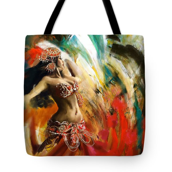 Abstract Belly Dancer 19 Tote Bag by Corporate Art Task Force