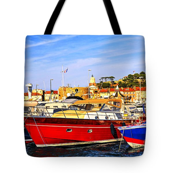 Boats At St.tropez Tote Bag by Elena Elisseeva