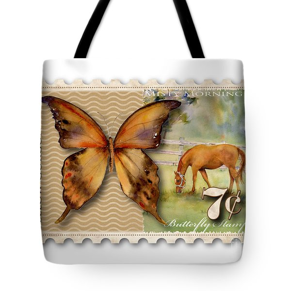 7 Cent Butterfly Stamp Tote Bag by Amy Kirkpatrick