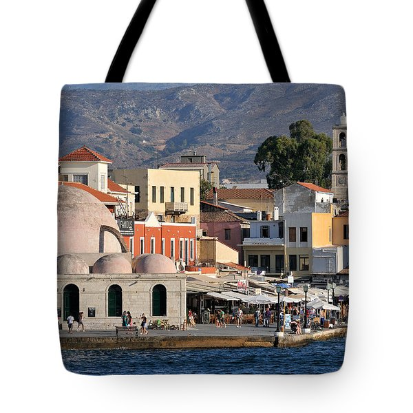 Chania City Tote Bag